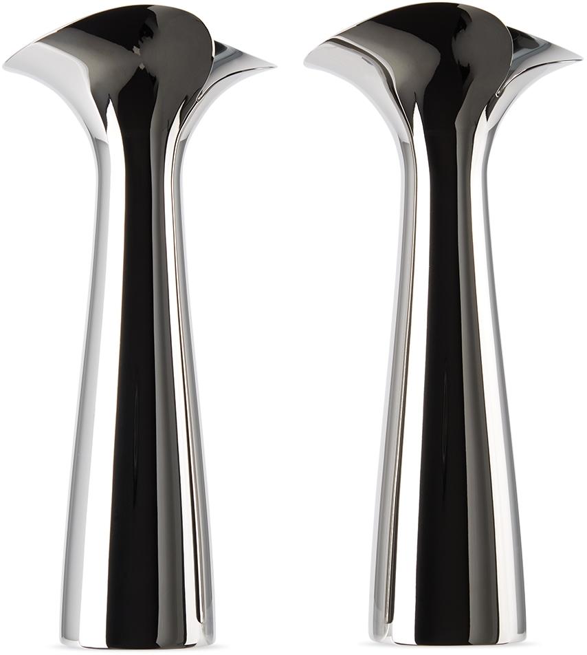 Stainless Steel Bloom Botanica Candle Holder Set