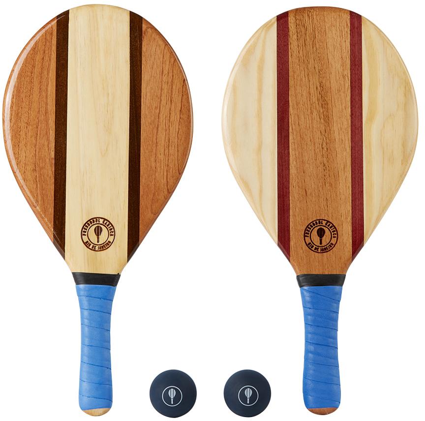Brown & Blue Trancoso Beach Bat Set