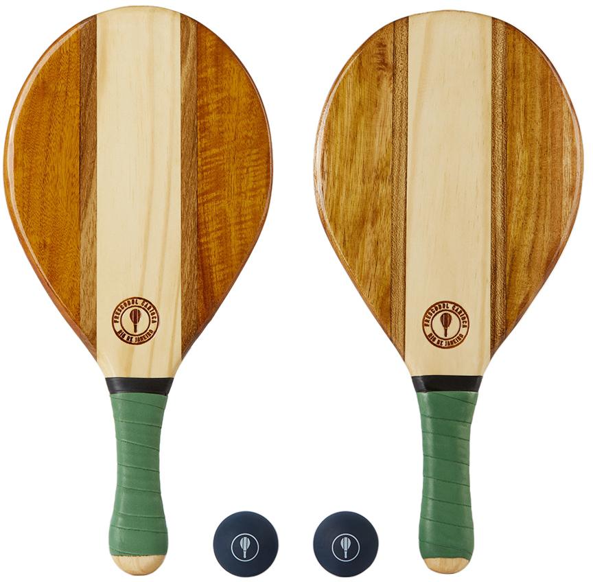 Brown & Green Trancoso Beach Bat Set