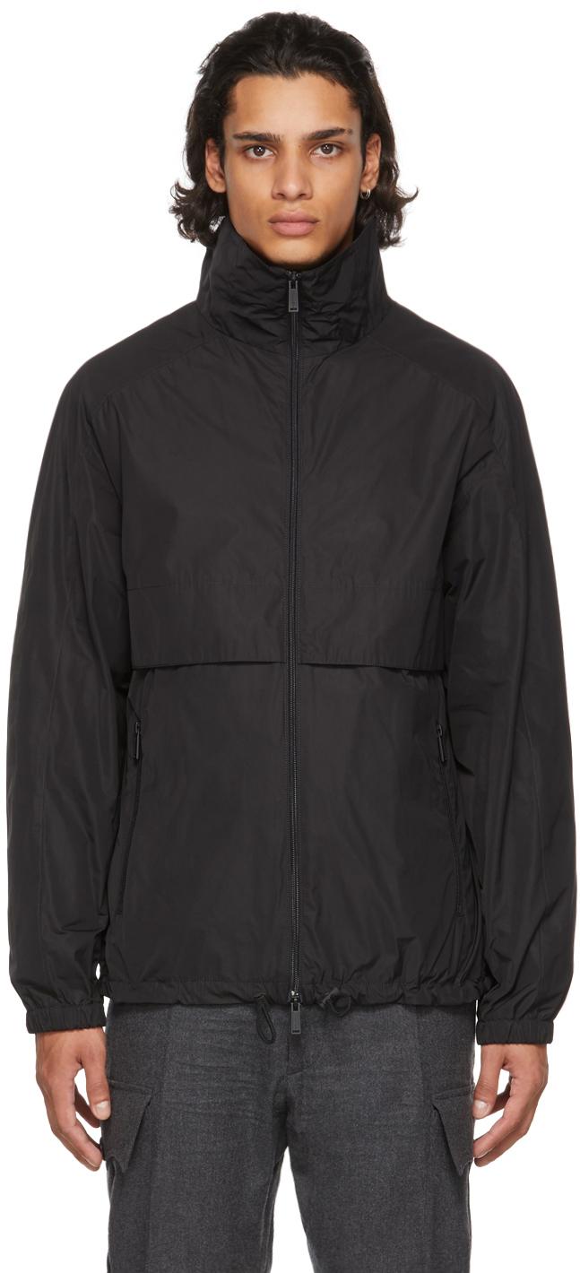 Black Moto Zip Bomber Jacket