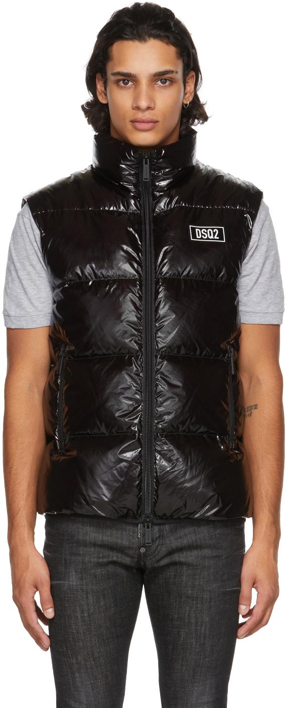 Black Down Puffer Vest