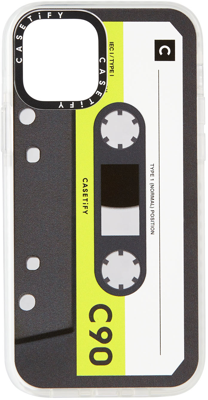 CASETiFY Black & Green Cassette Impact iPhone 12 Pro Case