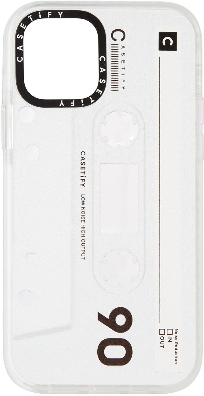 White & Black Cassette Impact iPhone 12 Pro Case