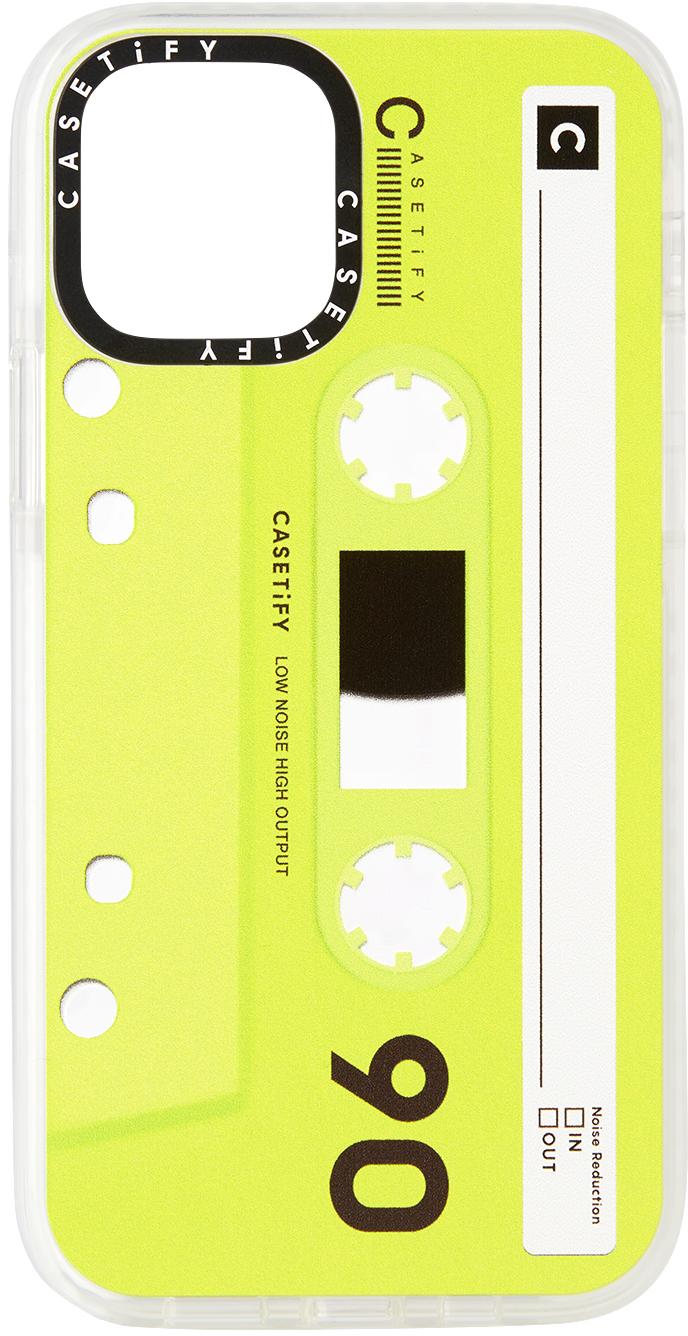 Green & Black Cassette Impact iPhone 12 Pro Case