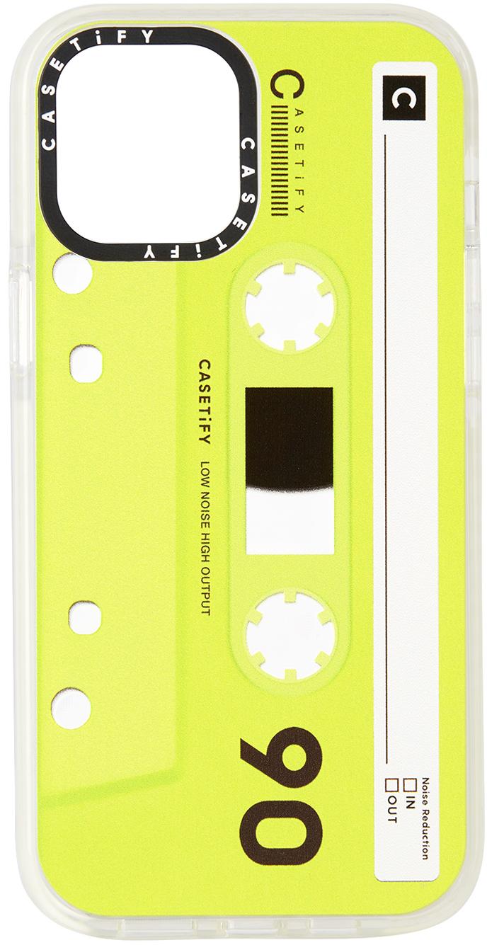 CASETiFY Green & Black Cassette Impact iPhone 12 Pro Max Case