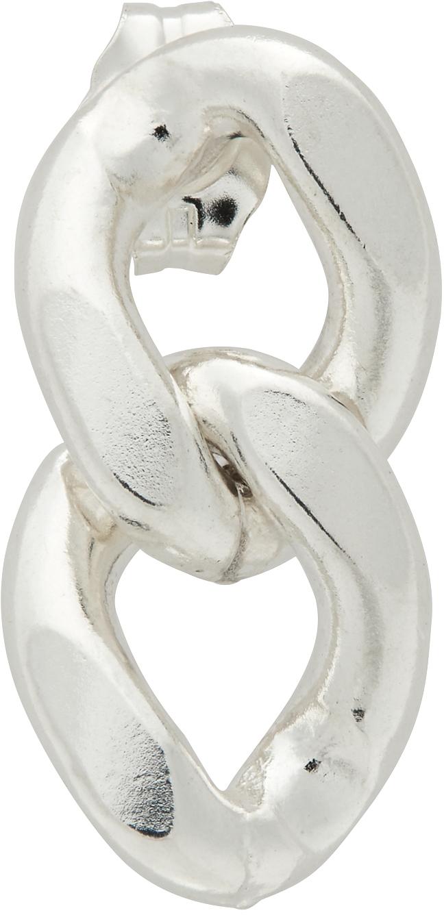 Silver Serge Single Earring