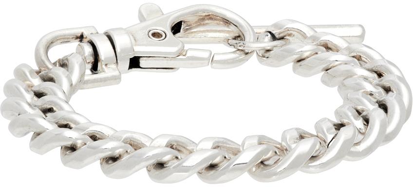 Silver Sandy Curb Bracelet