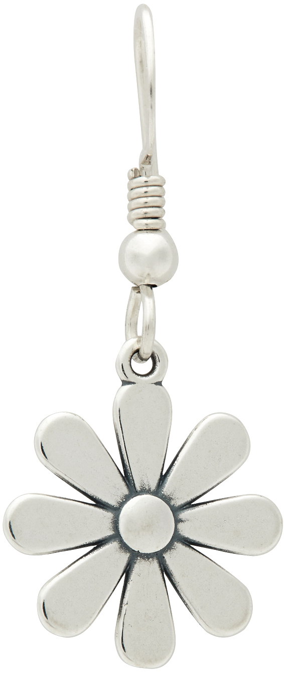 Silver Flower V1 Single Earring