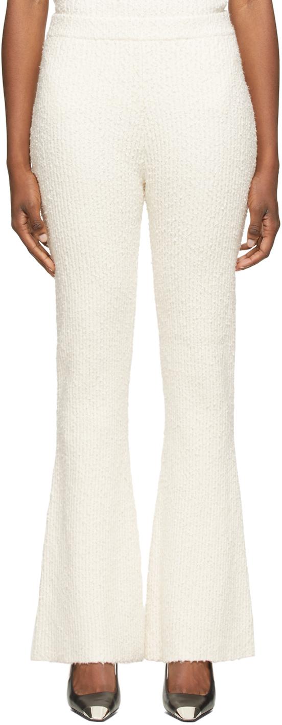 Off-White Bouclé Knit Flared Lounge Pants