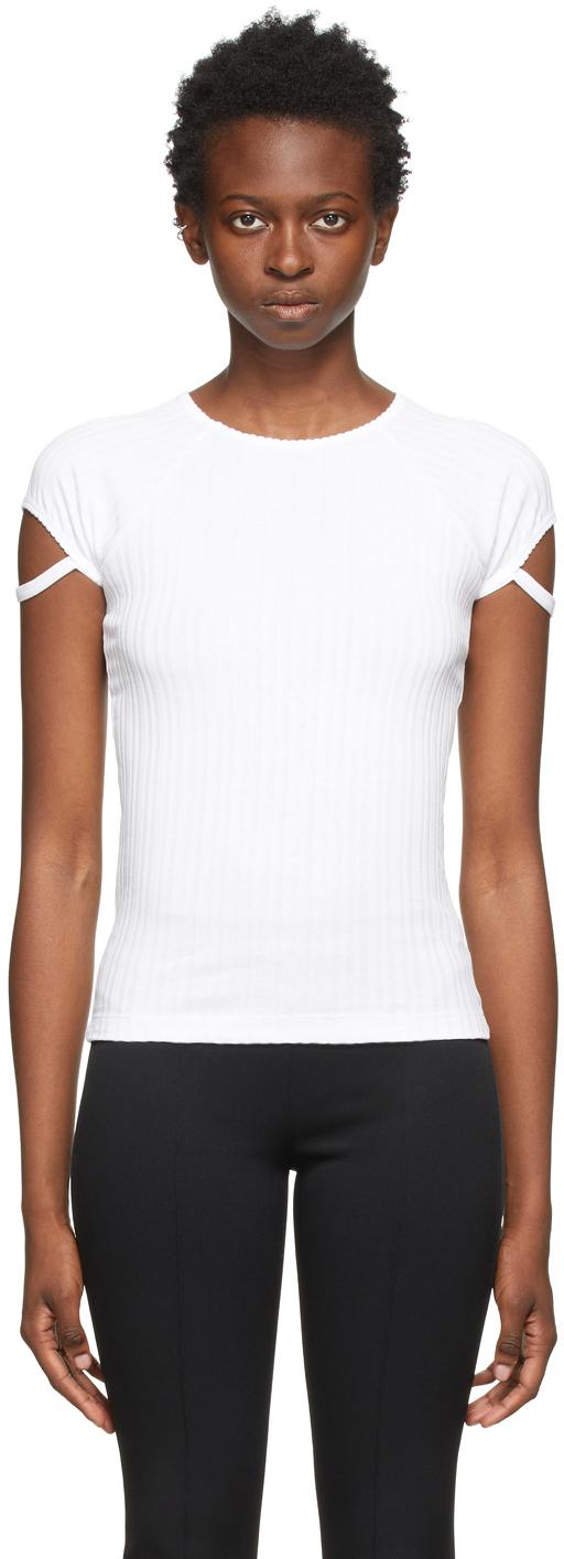 White Little Ribbed T-Shirt