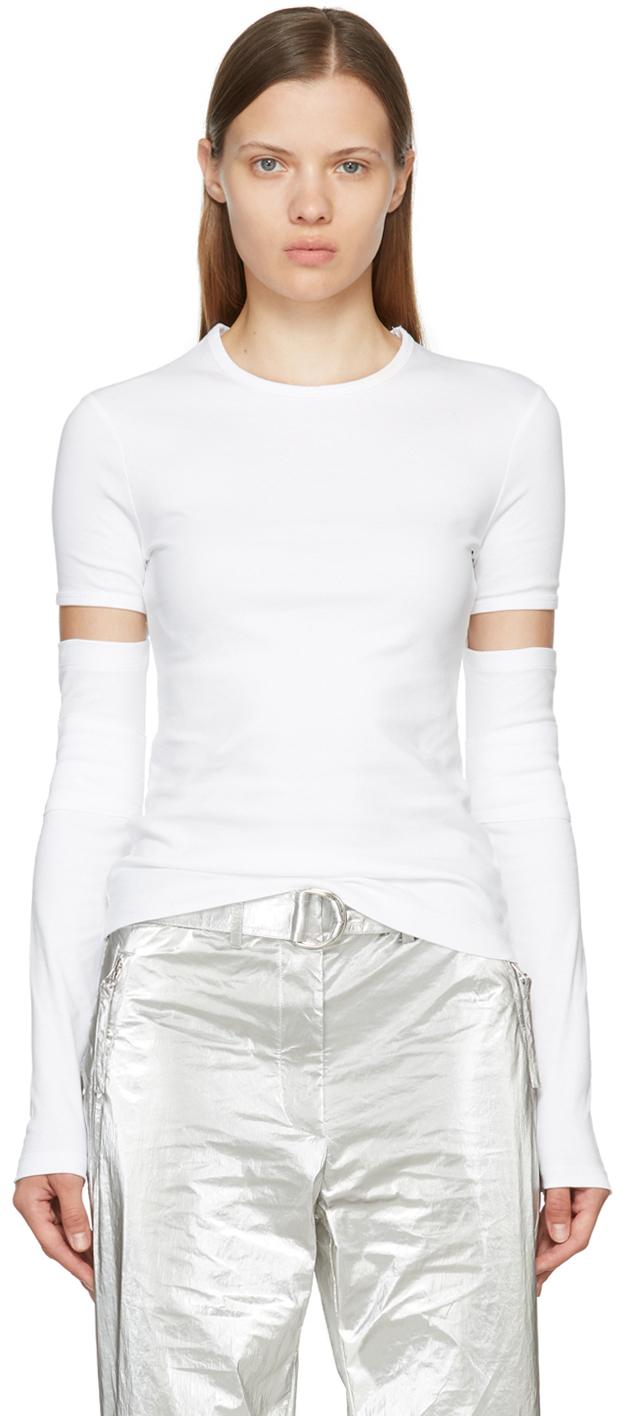 White Interlock Long Sleeve T-Shirt