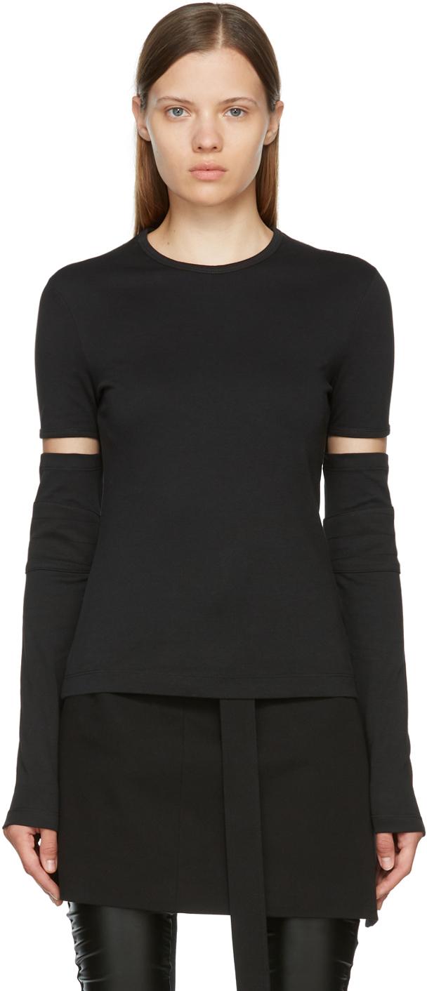 Black Interlock Long Sleeve T-Shirt