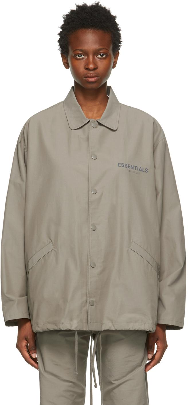 Taupe Coach Jacket