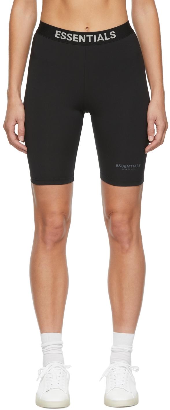 Black Athletic Bike Shorts