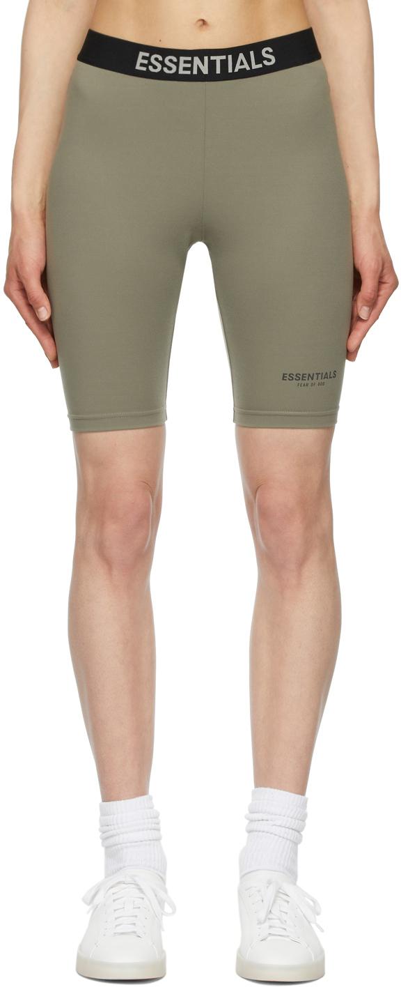 Grey Athletic Bike Shorts