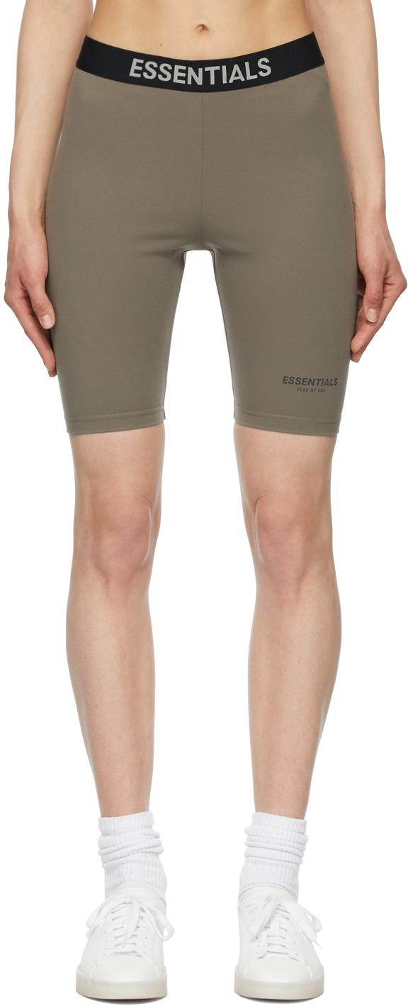 Taupe Athletic Bike Shorts