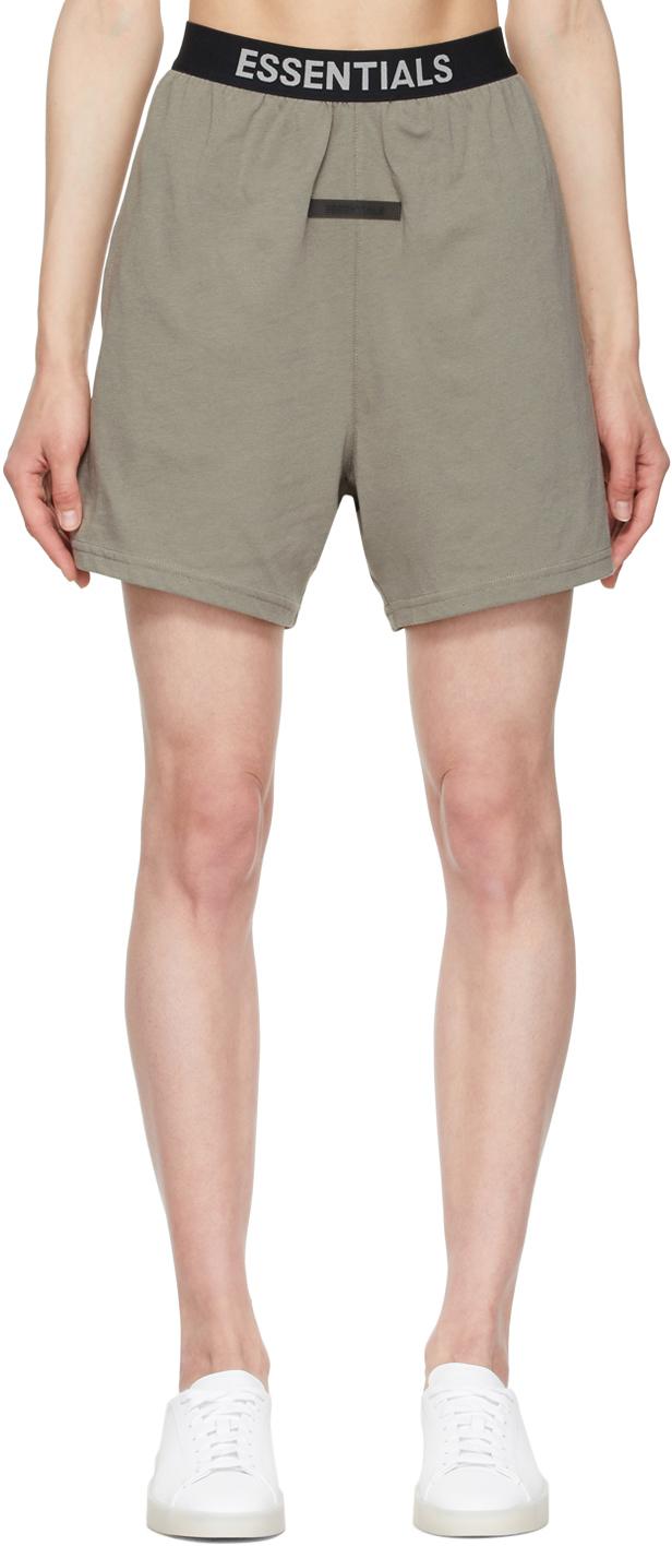 Grey Logo Lounge Shorts