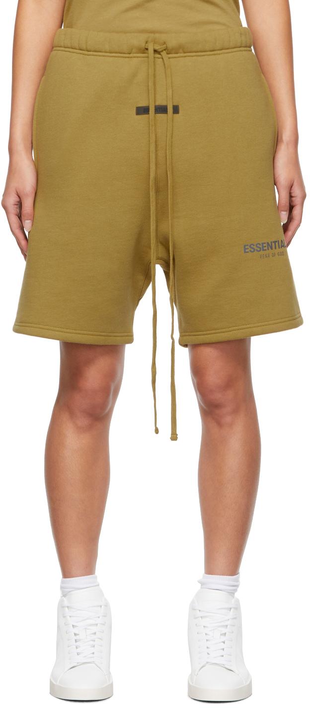 Khaki Fleece Shorts