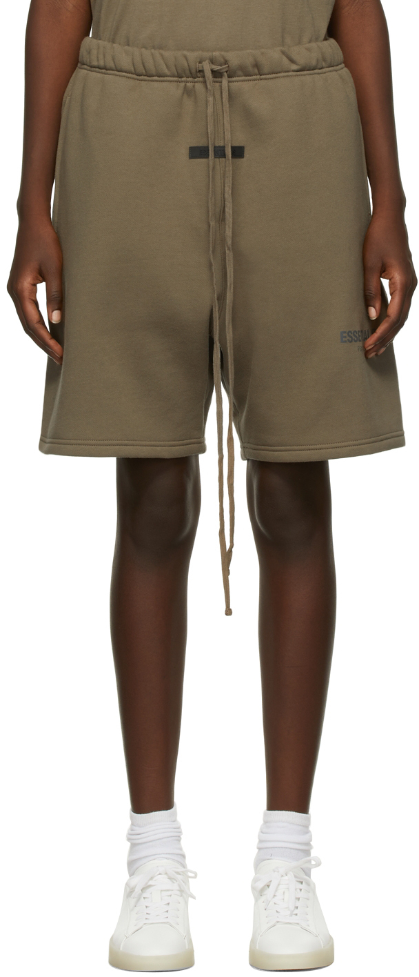 Taupe Fleece Shorts