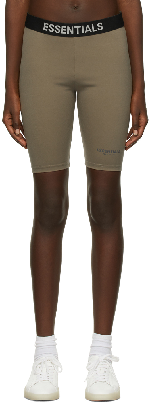 Taupe Athletic Biker Shorts