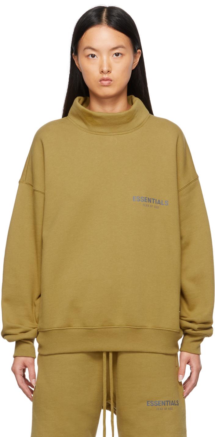 Khaki Mock Neck Sweatshirt