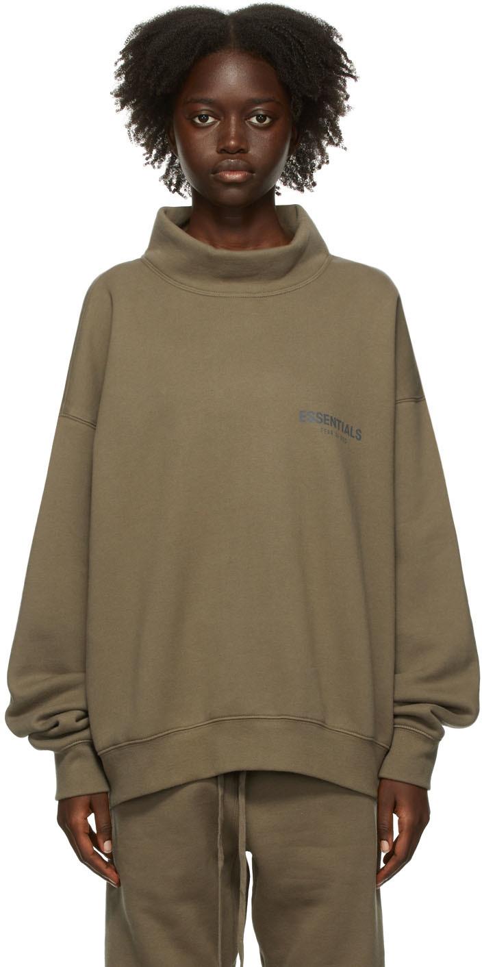 Taupe Mock Neck Sweatshirt
