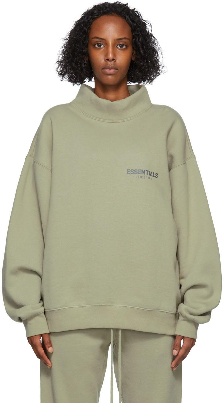 Green Mock Neck Sweatshirt