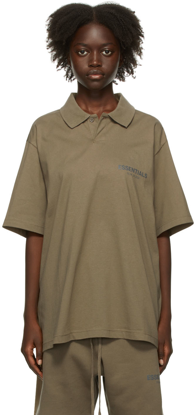 Taupe Jersey Polo