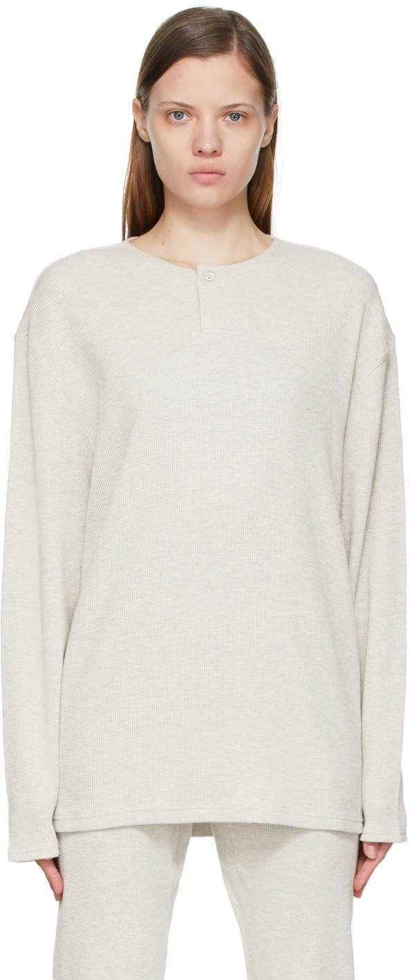 Off-White Thermal Waffle Henley