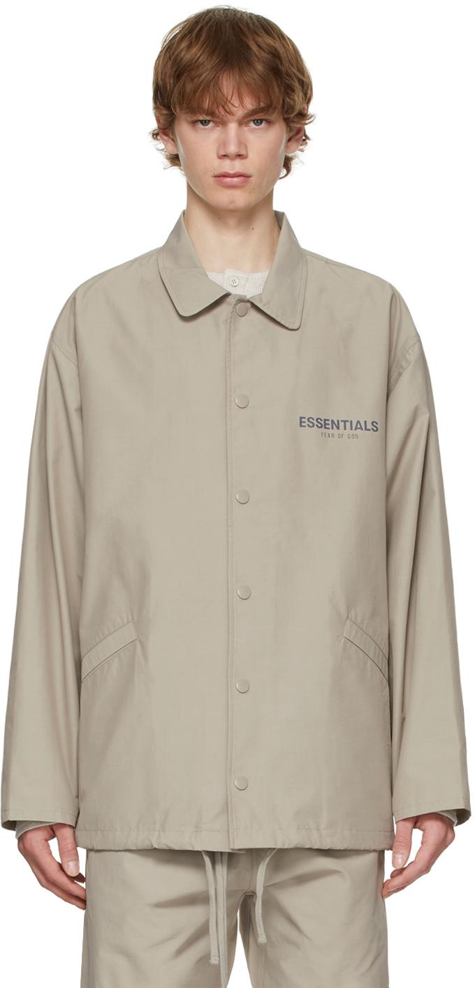 Essentials Grey Coach Jacket