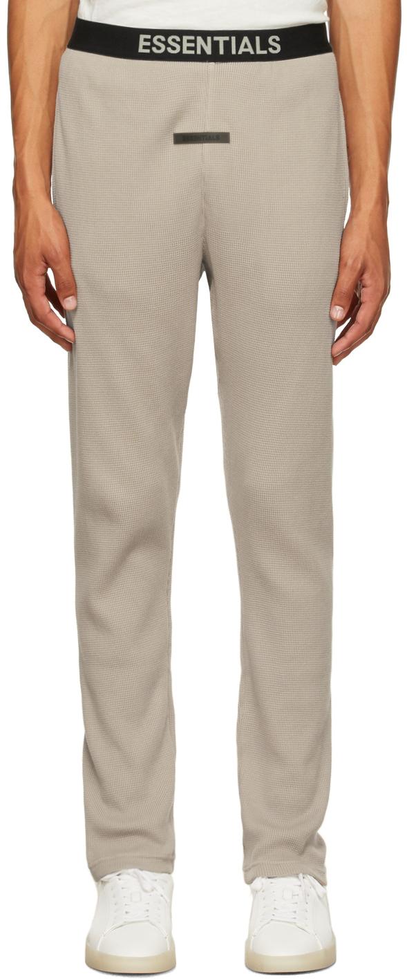 Essentials Tan Thermal Lounge Pants