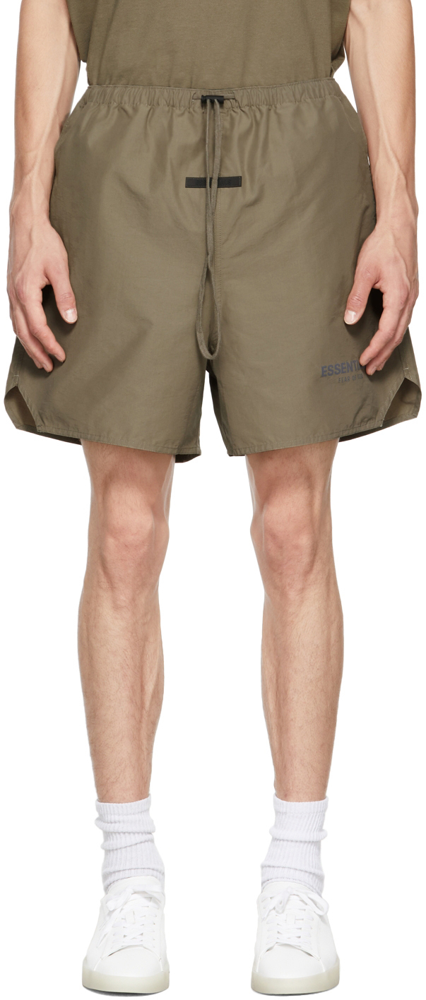 Essentials Taupe Volley Shorts