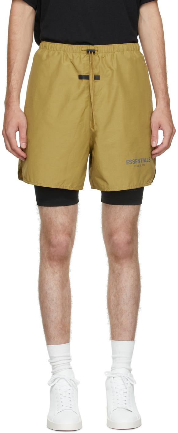Essentials Khaki Volley Shorts