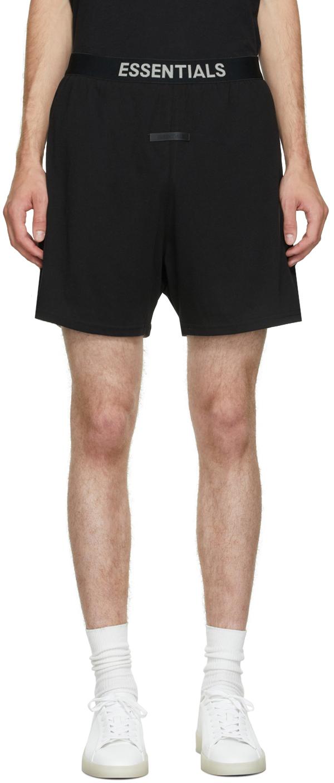 Essentials Black Lounge Shorts
