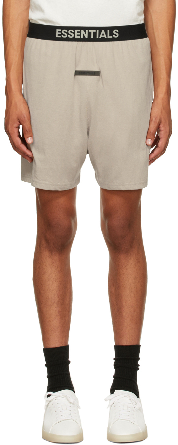 Essentials Tan Lounge Shorts