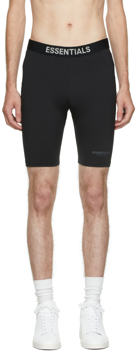 Essentials Black Athletic Biker Shorts