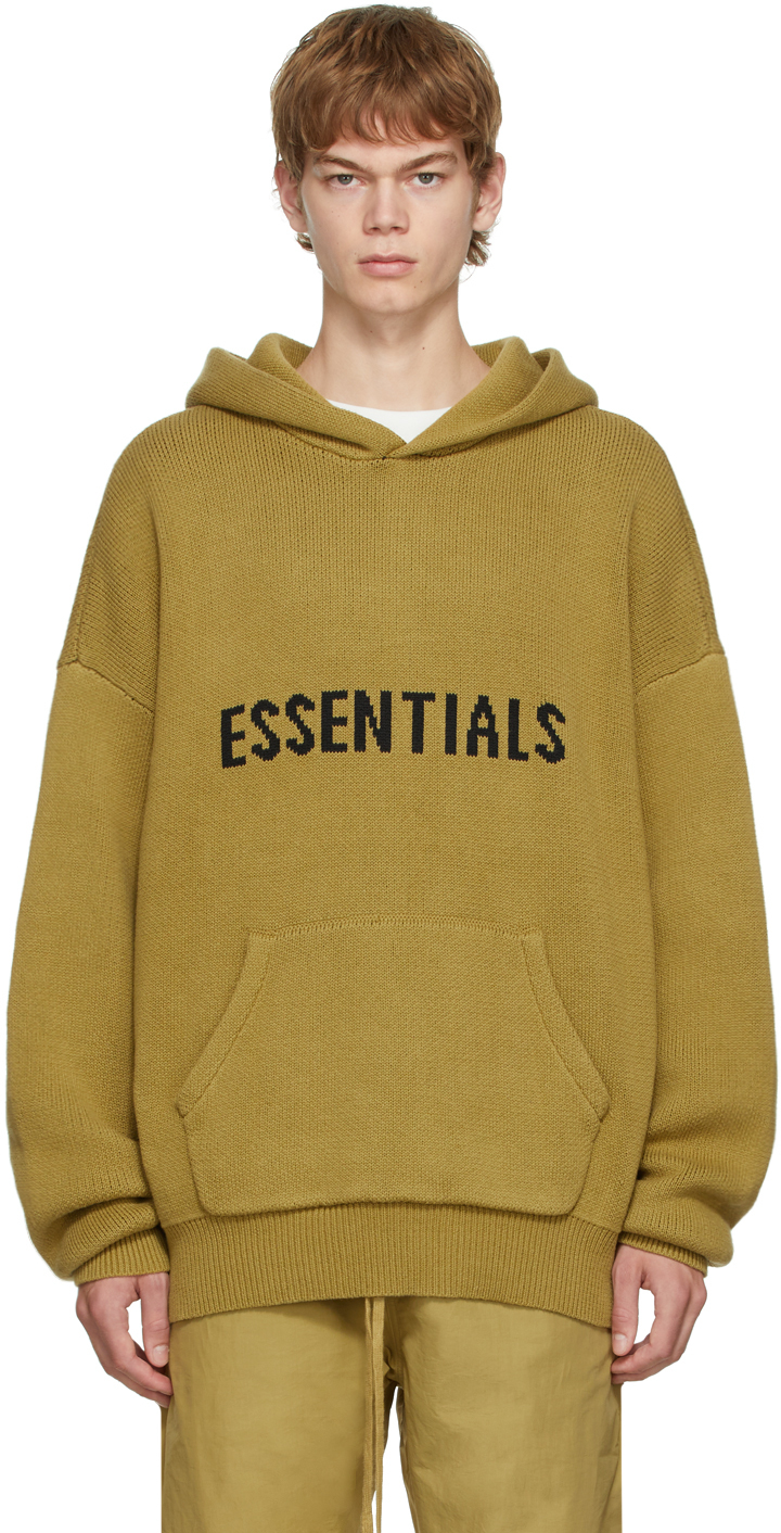 Essentials Khaki Knit Hoodie