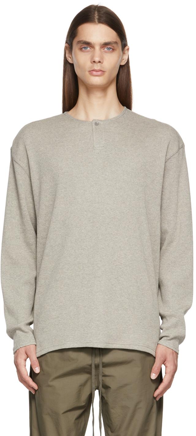 Essentials Grey Thermal Henley