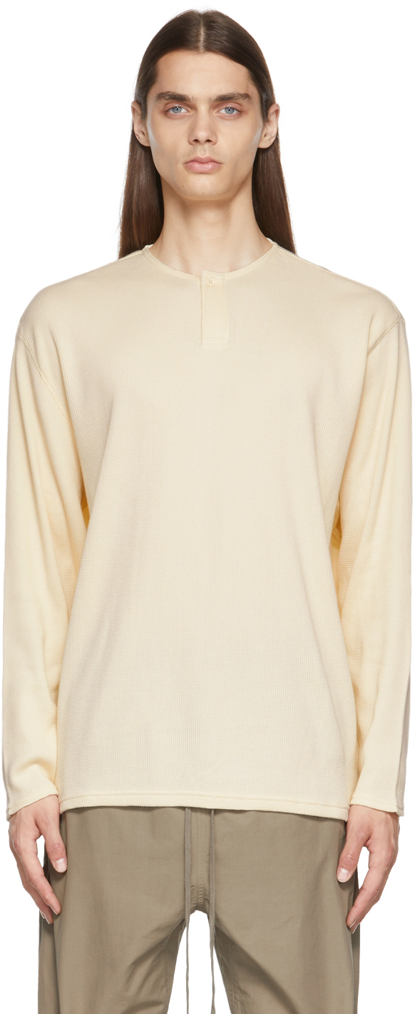 Essentials Off-White Thermal Henley