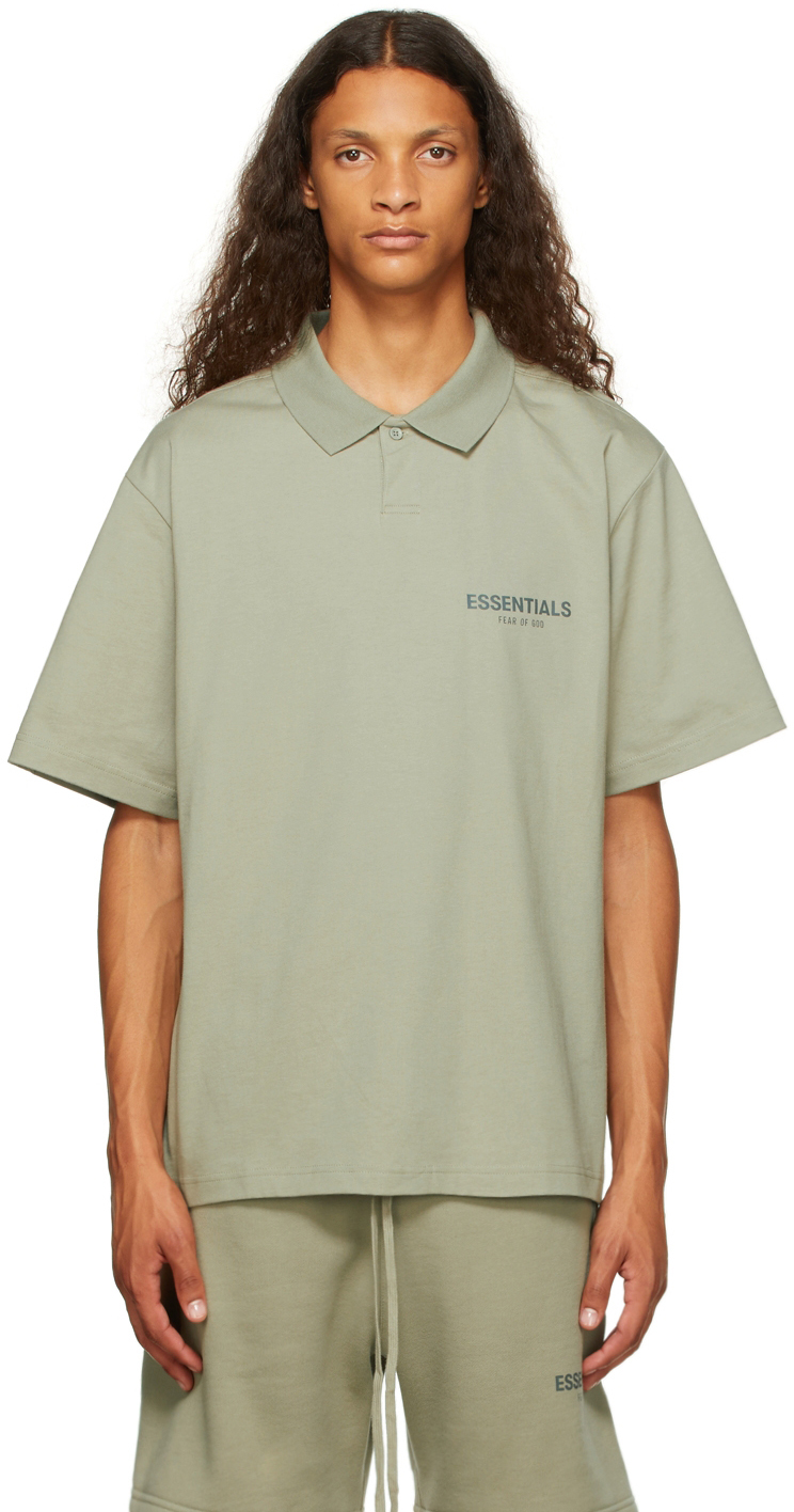Essentials Green Jersey Polo