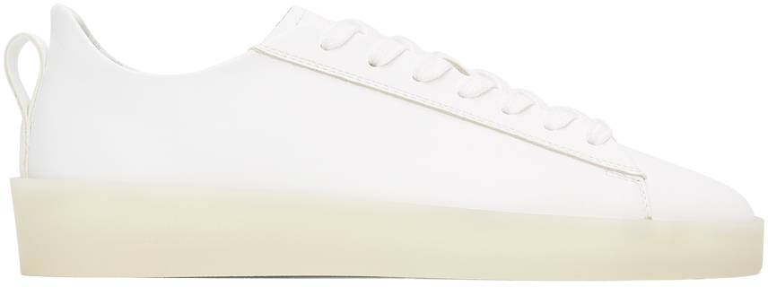 Essentials White Tennis Low Sneakers