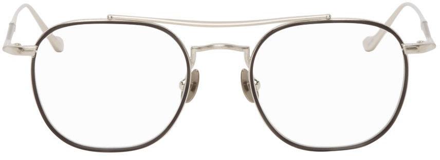 Black & Silver M3077 Optical Glasses