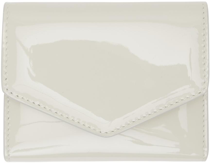 Off-White Patent Envelope Wallet