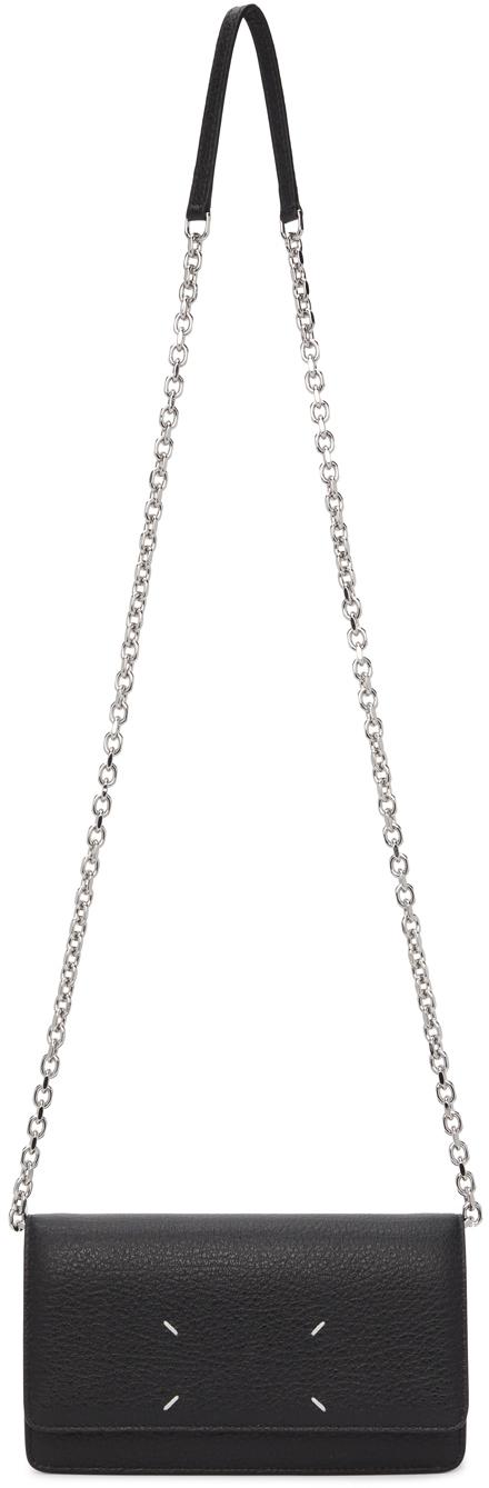 Black Large Chain Strap Wallet Bag
