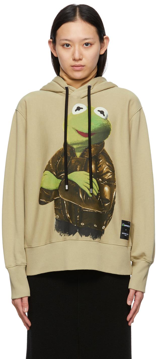 2 Moncler 1952 Green Kermit The Frog Hoodie