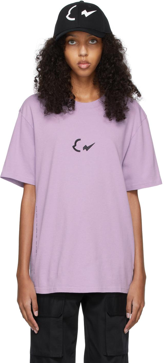 7 Moncler FRGMT Hiroshi Fujiwara Purple Logo T-Shirt