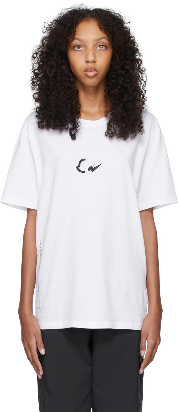 7 Moncler FRGMT Hiroshi Fujiwara White Print Logo T-Shirt