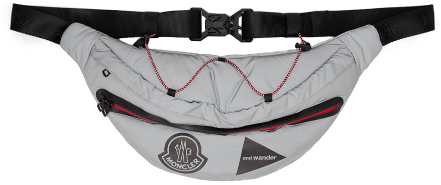2 Moncler 1952 Grey and wander Edition Reflective Belt Bag