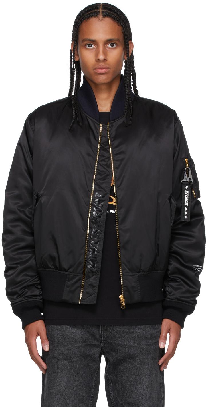 7 Moncler FRGMT Hiroshi Fujiwara Black Down Rassos Bomber Jacket