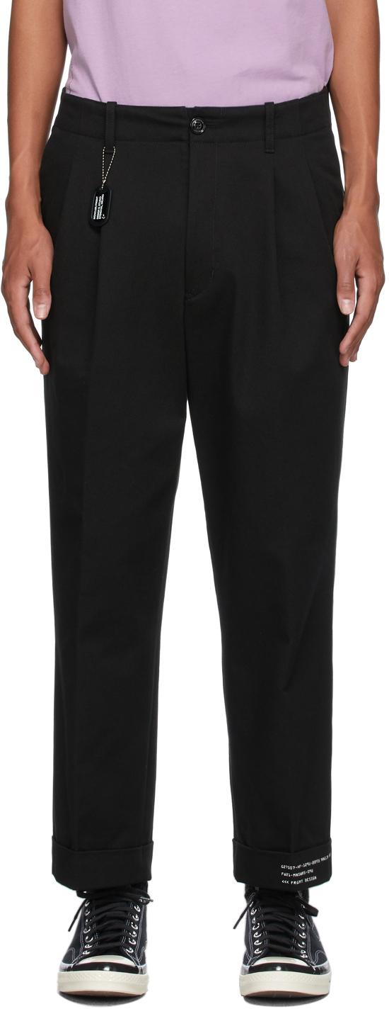 7 Moncler FRGMT Hiroshi Fujiwara Black Pleated Trousers